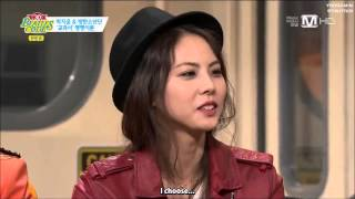 [ENG SUB] Park JiYoon choose BTS member(?) as her date 방탄소년단