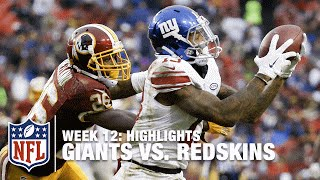 Giants vs. Redskins | Week 12 Highlights | NFL