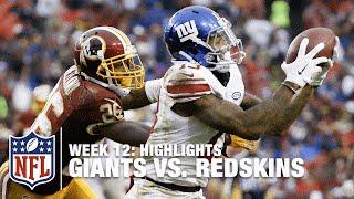 Giants vs. Redskins | Week 12 Highlights | NFL