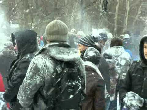 Snow war in Odessa 27.01.2013