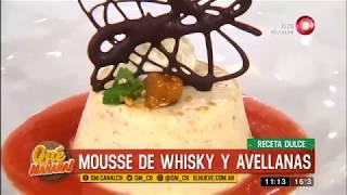 Receta dulce: mousse de whisky y avellanas