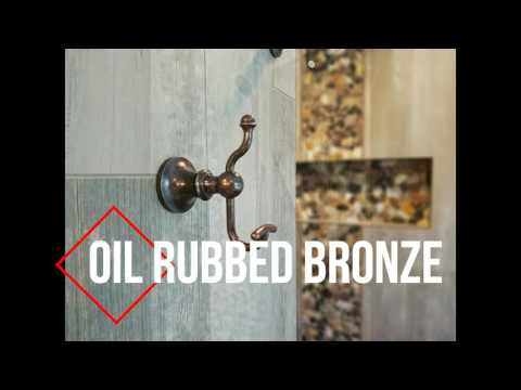 Bathroom Remodeling Ideas - Pebble Tile with Wood Plank Tile