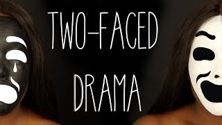 Drama Faces Tutorial- Two Faced | Halloween 2017