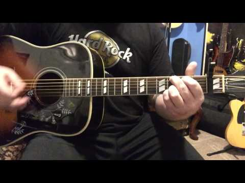 Sunday Morning Coming Down - Johnny Cash - Rough Guitar