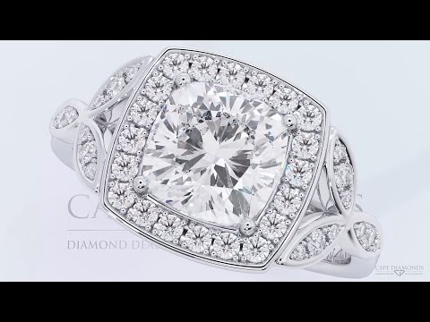 MOST BEAUTIFUL CUSHION CUT DIAMOND ENGAGEMENT RING COLLECTION CAPE TOWN
