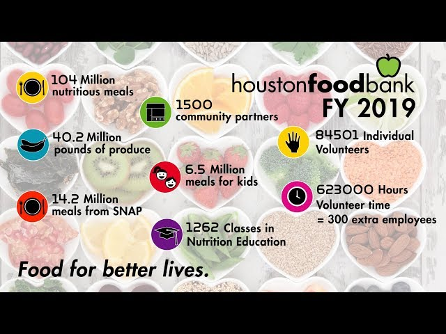By the Numbers: Houston Food Bank Fiscal Year 19