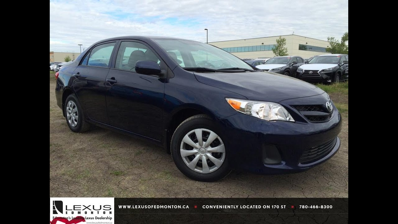Pre Owned Lexus >> Pre Owned Blue 2013 Toyota Corolla Auto CE Walk Around Review | Innisfail Alberta - YouTube