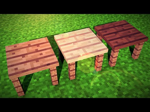 minecraft wood and glass tables fancy tables mod showcase