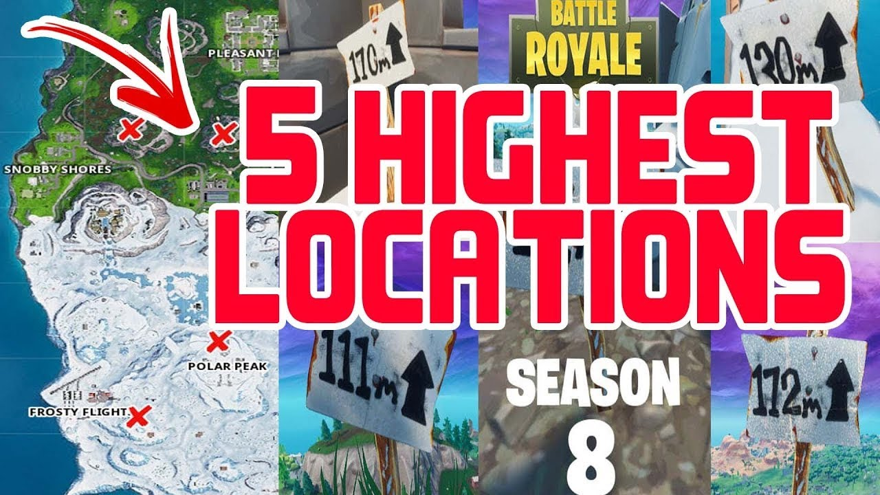 fortnite season 8 week 5 challenges guide