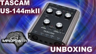 Tascam US-144 mkII USB 2.0 Audio/MIDI Interface Unboxing - MindPower009