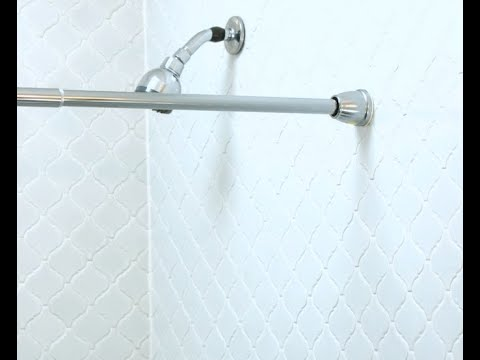 Never Fall Shower Curtain Rod, How To Install A Tension Shower Curtain Rod On Tile