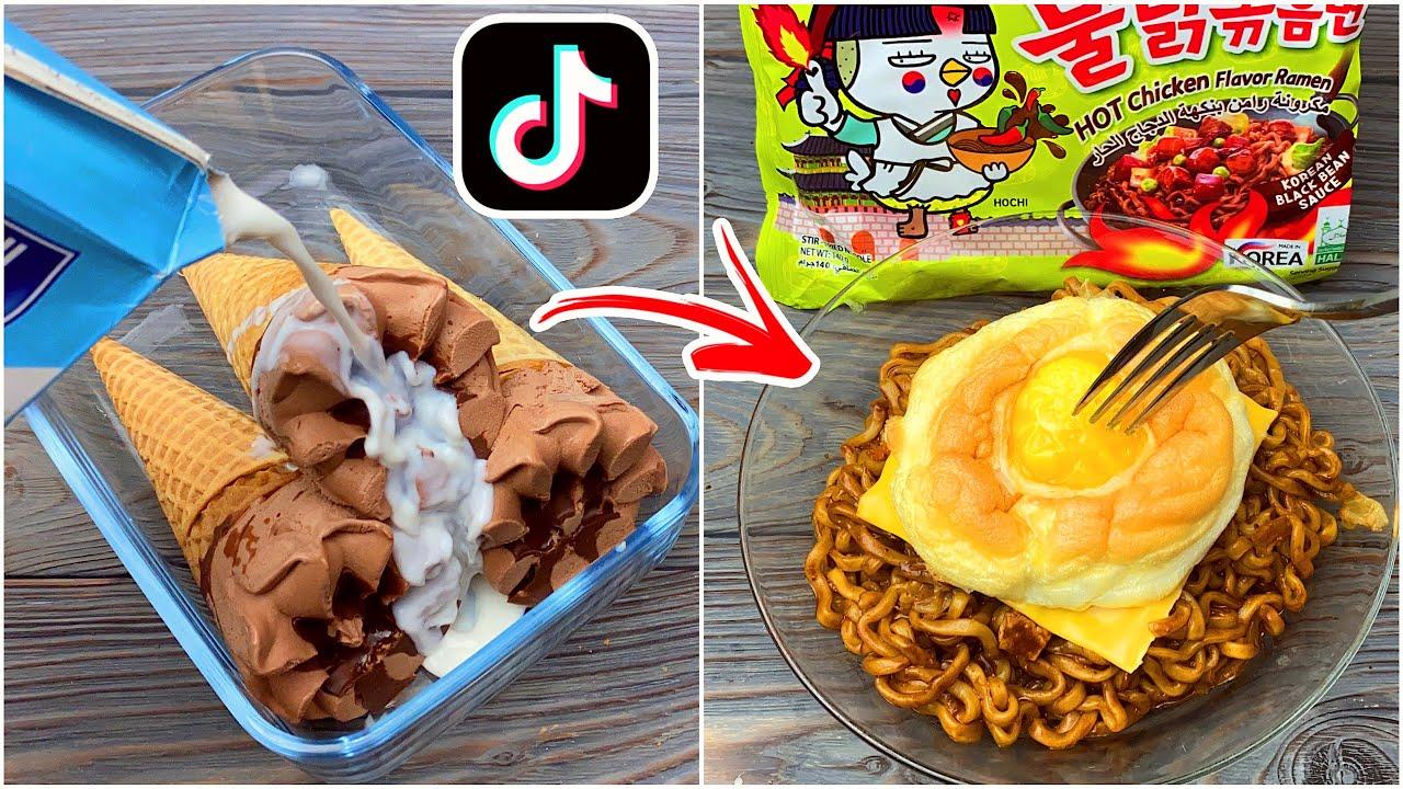 Download جربت ٧ طبخات غريبة من التيك توك 😻! سويت برجر الحلويات 😋!
