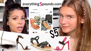 WE TRIED ON $5 SHOES! WE COULDN'T BELIEVE IT!!!