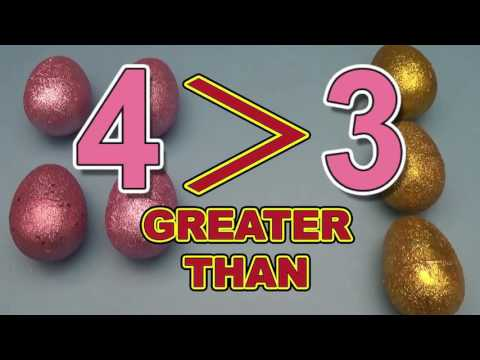 How To Learn Greater Than Less Than And Equal To With Surprise Eggs