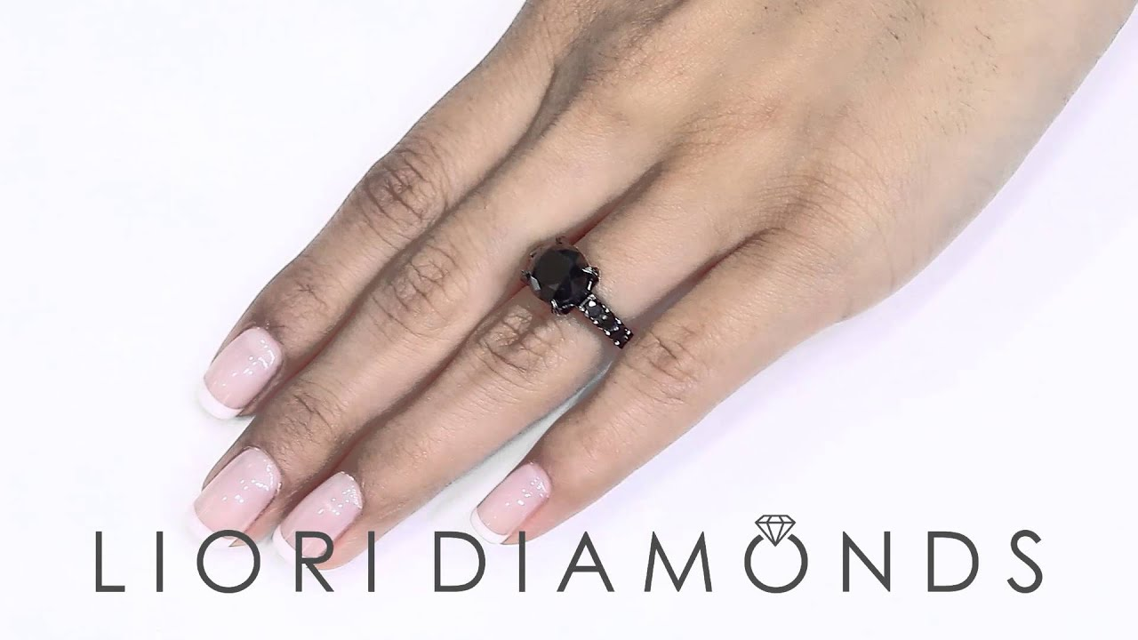 BDR 230 5 78 Carat Certified Natural Black Diamond Engagement