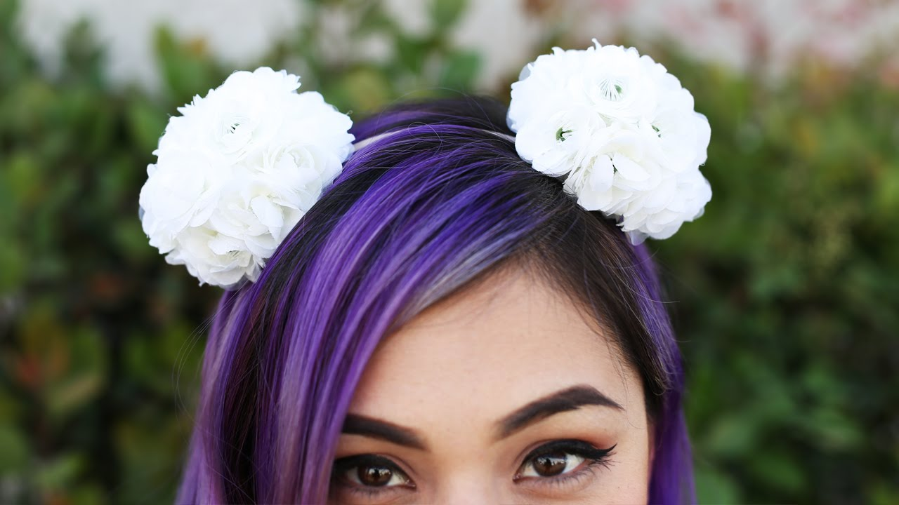 Spring Flower Pom Pom Headband Diy Youtube