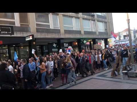 Protest protiv diktature Niš 10.4.2017