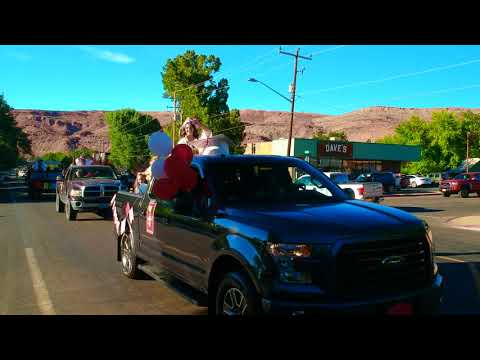 "Highlights 5/28/20 Grand County High School ""social distance style"" Graduation Ceremony Moab Utah"