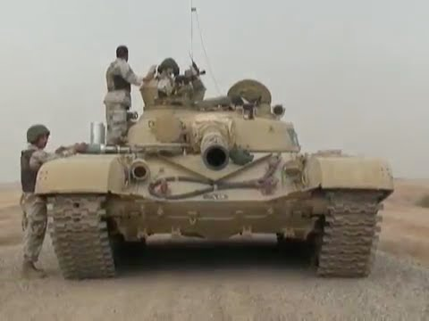 T-72 Main Battle Tanks on the Gunnery Range in Iraq