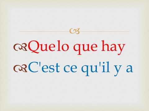 Traduccion De Algunas Palabras De Español A Frances