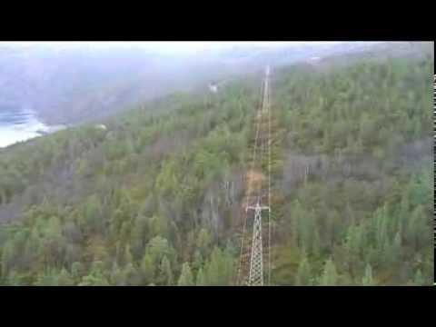 Helikoptertur fra Narvik til Bjørnefjell