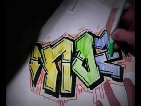 Graffiti Sur Papier D Apprendre Le Tag Sketch Action Speed Art