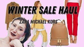 Покупки на зимней распродаже: ZARA, Michael Kors