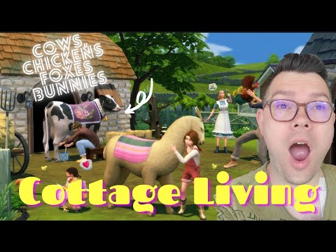 Sims 4 Cottage Living Live Reaction-New Expansions Pack Trailer |
