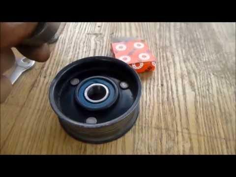 Замена натяжного ролика ремня генератора своими руками