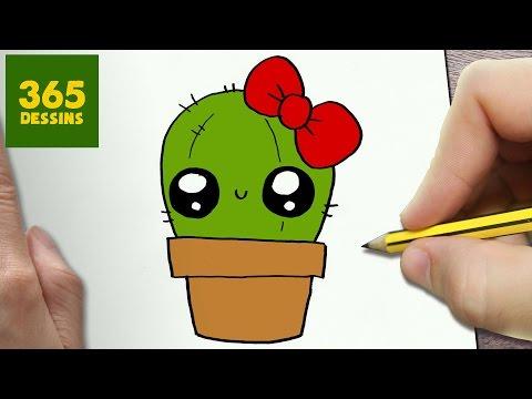 Comment Dessiner Cactus Kawaii étape Par étape Dessins