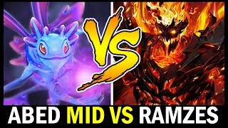 when ABED Mid vs RAMZES666 — Forcestaff Puck vs Shadow Fiend Dota2