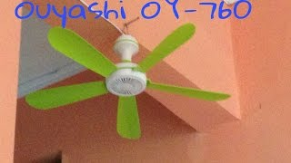 Unboxing And Test ouyashi mini ceiling fan