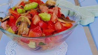 Такого салата вы точно еще не ели!!!! Все гости просят добавки!!! Рецепты салатов.