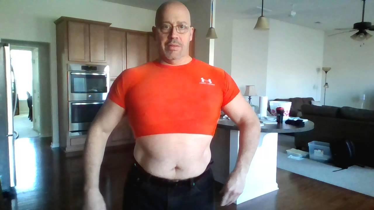 56d35931 Half Shirt Flexing, Pec Bounce, Under Armour Musclechub - YouTube