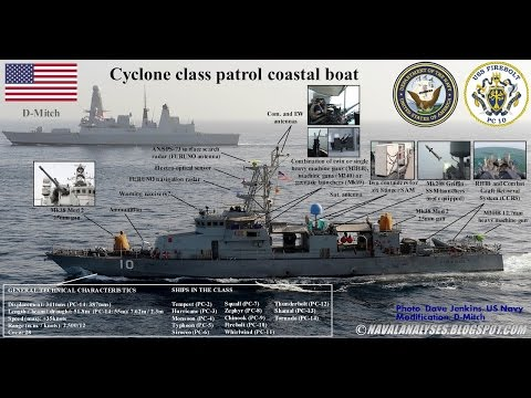 USS Firebolt (PC-10) Cyclone-Class Patrol Boat