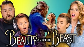 KIDS/PARENTS REACT TO BEAUTY AND THE BEAST TRAILER