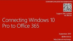 Connecting Windows 10 Pro to Office 365