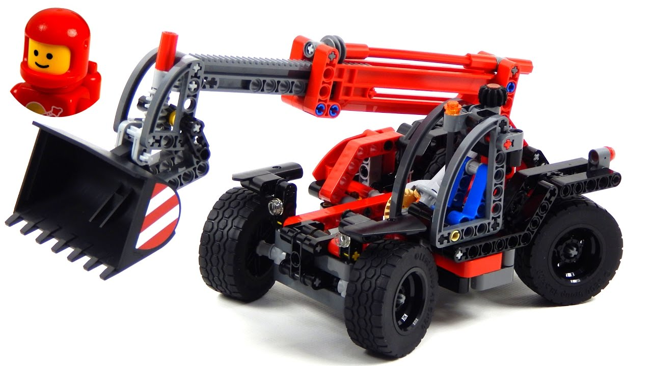 lego technic 42061 telehandler lego speed build youtube. Black Bedroom Furniture Sets. Home Design Ideas