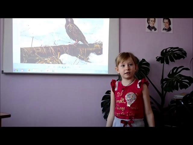 Изображение предпросмотра прочтения – АлёнаСорока читает произведение «Песня скворца» Л.Л.Фадеевой