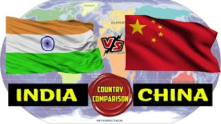 India VS China Country Comparison | China vs India Military Power, GDP, Poverty etc