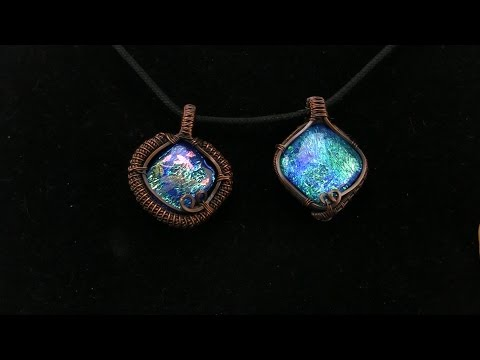 Wire Wrapped Pendant Using Square Wire and Coiled Coil (Tutorial)