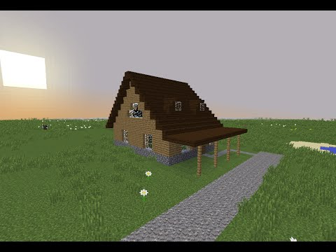 Tuto minecraft maison en bois 2 youtube - Maison en bois minecraft ...