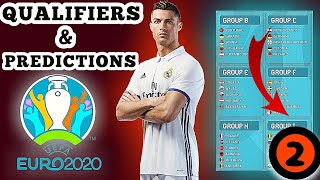 UEFA Euro 2020 GROUP QUALIFIERS & PREDICTIONS | games on March to November 2019