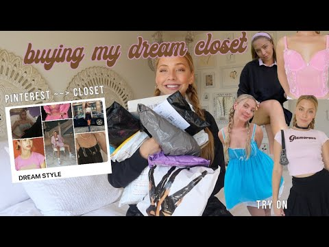 buying my dream closet… online shopping + try-on haul ★CLOSET MAKEOVER★