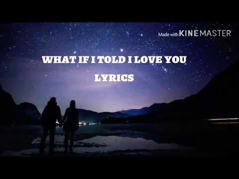 ALI GATIE LYRICS IF I TOLD I LOVE YOU