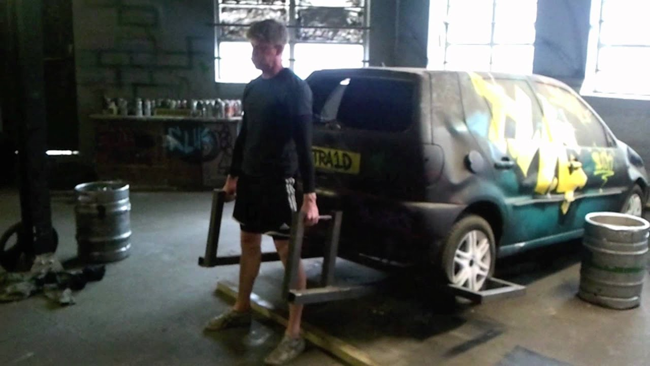Car Deadlift At Warehouse Gym