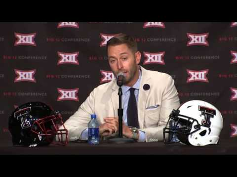 Kliff Kingsbury talks at Big 12 Media Days