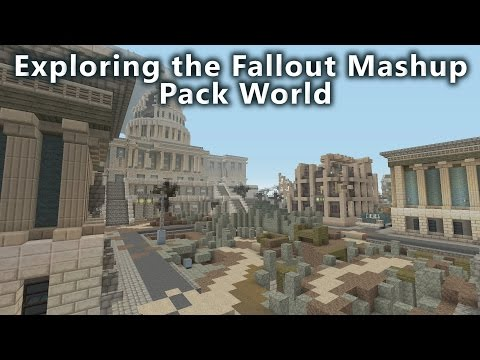 Minecraft - Exploring the Fallout Mashup Pack World.
