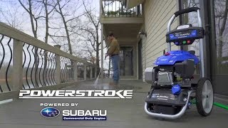 How to: Properly use a PowerStroke 3100 PSI Pressure Washer Subaru Electric Start 2.4 GPM EA190V