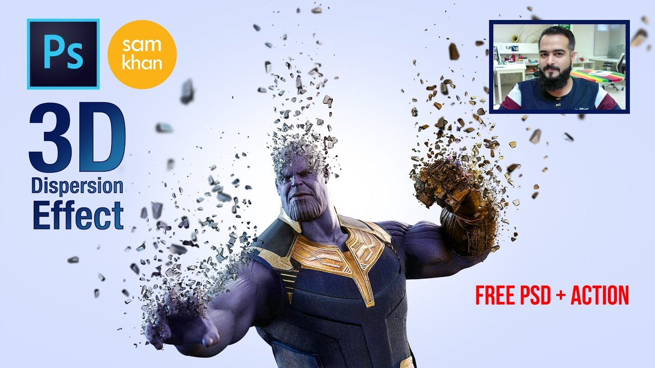 Photoshop tutorials | How to Create Thanos 3D Dispersion EFFECT From  INFINITY WAR in Photoshop 2015